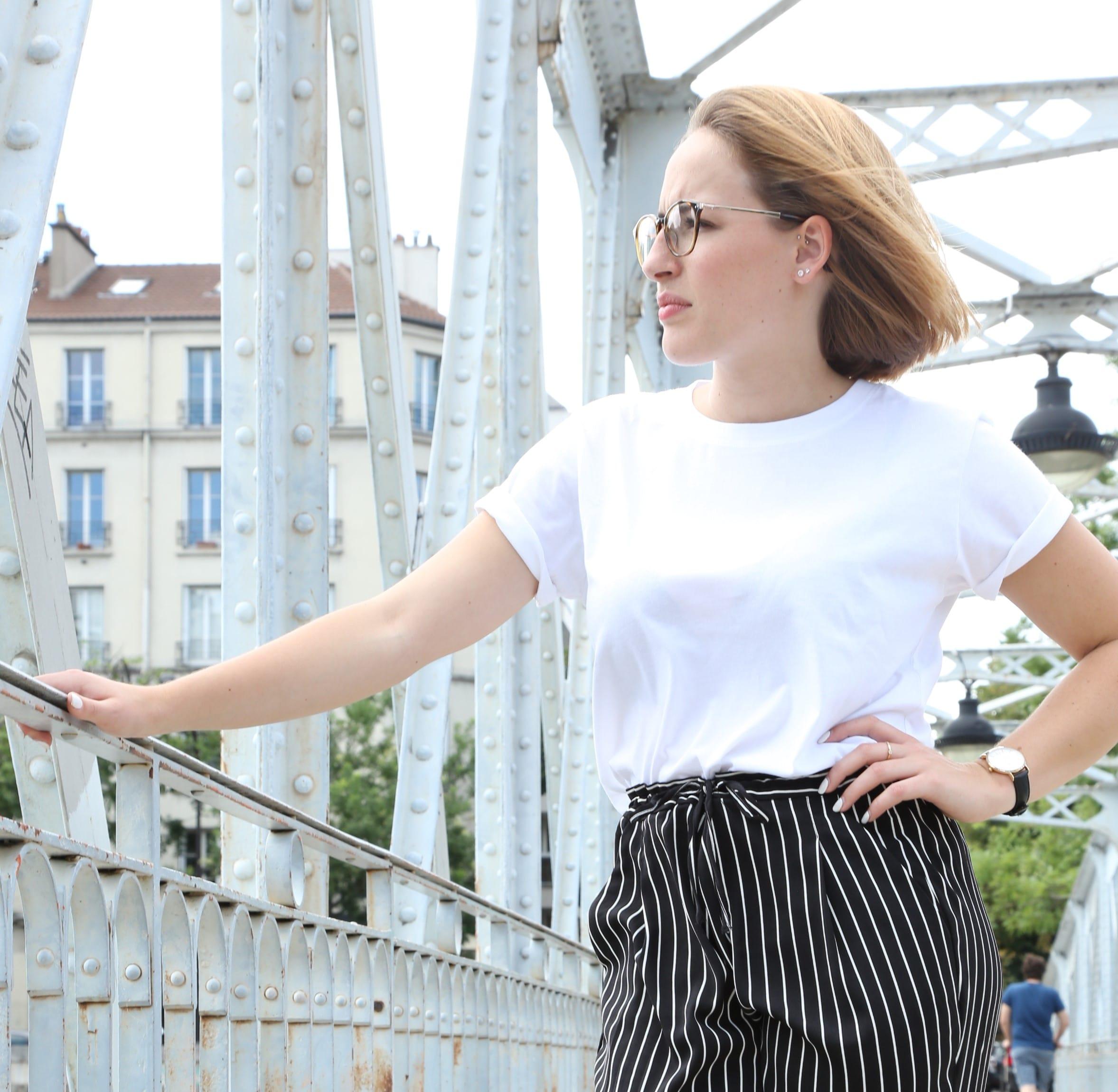 25326289f092c Tee-shirt Femme Blanc Col rond en coton bio - Le Basiq