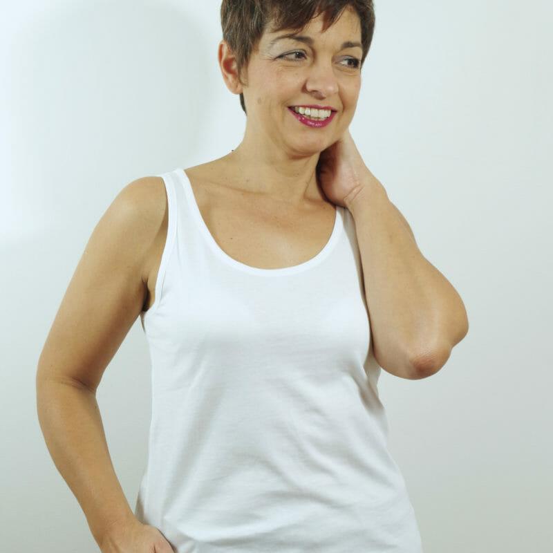 Débardeur Femme Blanc en coton bio