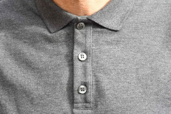 Polo-Homme-Gris-En-Coton-Bio