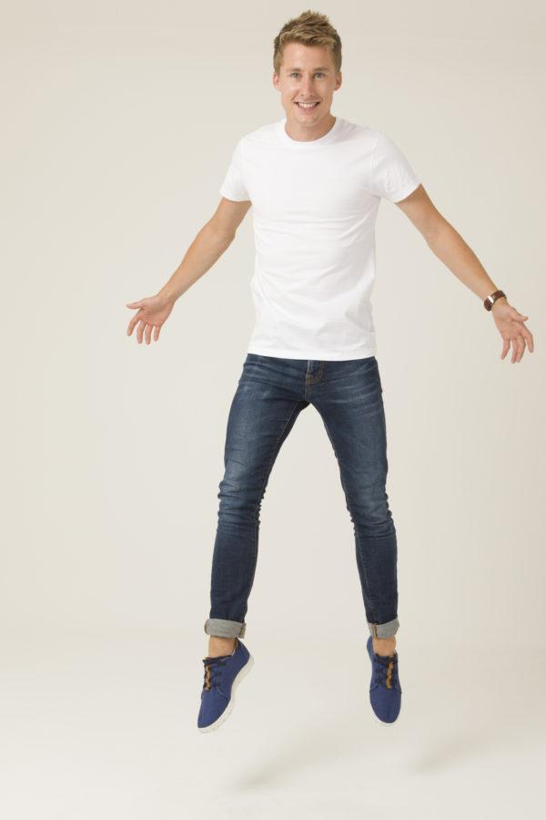 Tee-shirt Homme Blanc Col rond en coton bio